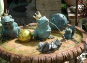 Bronze Froschkönig Springbrunnen Wasserspiel