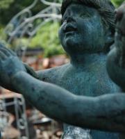 Bronze -  Springbrunnen - Putti - Putto - Kinder, - Höhe 1,35 cm - Preis 12.500 €
