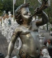 Bronze: Faun - Wasserspeiend - Höhe