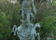 Neptun-Fisch-Bronze-Gruppe-Wassergott-