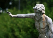 Bronze: Wassermann-Springbrunnen-Gartenbrunnen-ULRICH-GARTEN-Schwäbisch-Gmünd