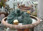 Frosch Wasserspeier  Bronzefroschkönig Froschkönig Skulptur - info@ulrich-garten.de