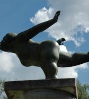Bronze Figur wie Botero