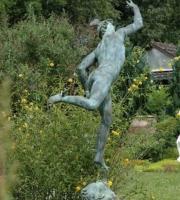 Merkur Bronzeskulptur