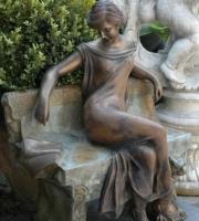 Frau in Gedanken Bronze Skulptur Figur