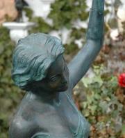 Mädchen Bronze Gartenlampe Stehlampe