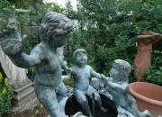 großer Barockbrunnen mit 5 Putten Bronze