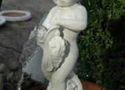 Wasserspeier - Putte mit Delphin, Springbrunnen,