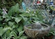 Wasserspiel mit Bronze Frosch - leise