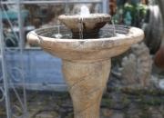 Antik Springbrunnen, Gartenbrunnen, Höhe 89cm, Durchmesser ca. 61cm