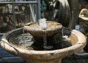 Detailansicht Antik Gartenbrunnen, Höhe 89cm, Durchmesser ca. 61cm