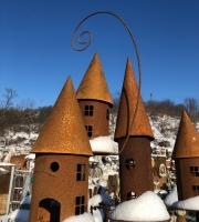 Vogelhaus - Vogelhäuschen  in Edelrost - Futterhaus