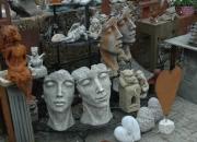 Gesicht - Mann - Frau - Steinguss - Steinobjekt