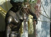 Bronze Statue, die Badende