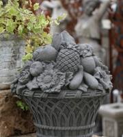 Früchtekorb-englischer-Antiksteinguss-Steinguss-ULRICH-GARTEN-Schwäbisch-Gmünd