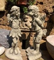Der Kuss - Engel - Elfe - Elfenpaar mit Herz