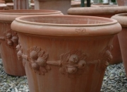 Terracotta Impruneta - Vase - Pflanzvase - Amphore - Winterfest
