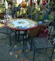 Gartentisch Tisch Rund oval rechteckig bunt