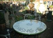 Gartenmoebel - Deruta - Tisch- Eisenstuhl