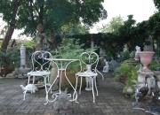 Gartengarnitur - Eisentisch - Eisenstuhl