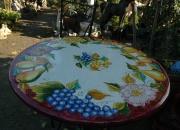 Gartenmöbel - Deruta - Tisch-Stein-Bemalt