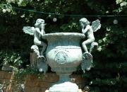 Engelamphore Pflanzamphore Gartenamphore Bronzevase Eisenvase