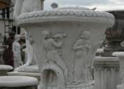 Steinguss - Vase - Pflanztopf - Winterfest